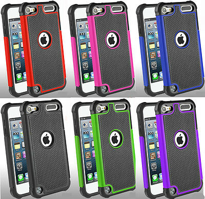 Hybrid Shockproof 2 Layers Case Cover For Apple iPod Touch 5th & 6th Generation Ipod Touch 2 Cover