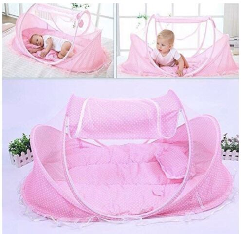 Foldable Baby Travel Pop-up Bed Crib, Portable Infant ...