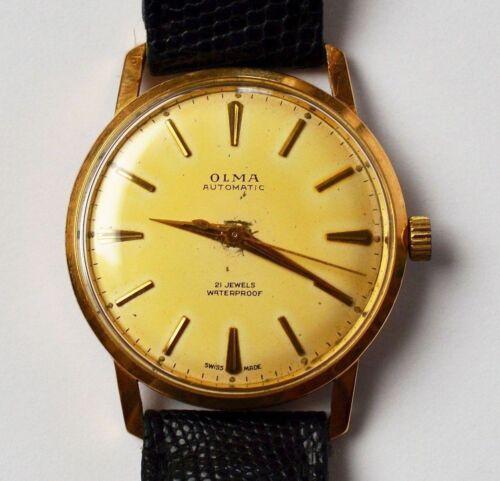OLMA automatic 14 Karat 585 Gold Gelbgold Armbanduhr Herrenarmbanduhr 1950/60er