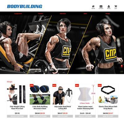 Established Profitable Body Building Turnkey Dropship Website Business For Sale