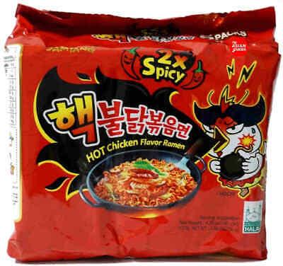 2 X Samyang Nuclear Hot Spicy Ramen Noodles Korean Buldak Bokeum 2X Spicy (10pk)