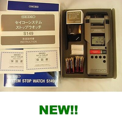 SEIKO SYSTEM STOPWATCH SVAS007 INTEGRATED PRINTER EMS EXPRESS SHIPS BRAND NEW!