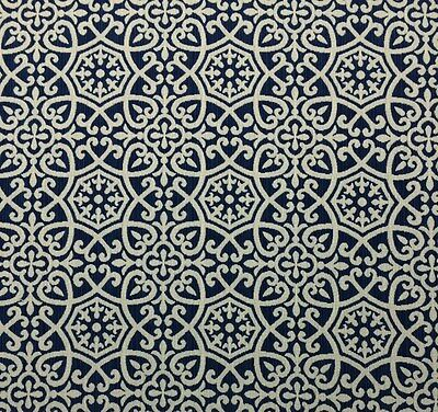 Ballard Designs Naples Blue White Scroll Outdura Outdoor Indoor Fabric By Yard