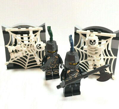 2 Lego Castle Knights Minifigs Kingdoms Green Dragon Knights Dungeons Skeletons