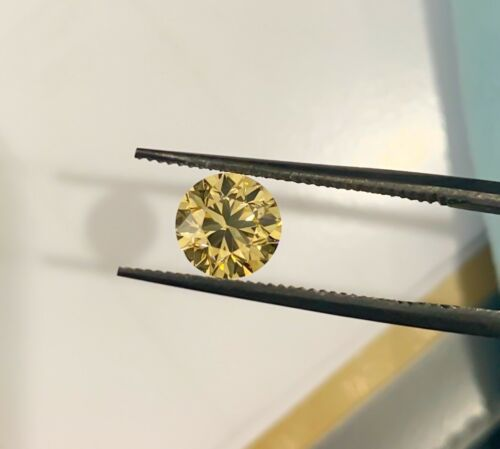 1.20 VS1 Round Fancy Yellow GIA Certified Loose Diamond Engagement Ring