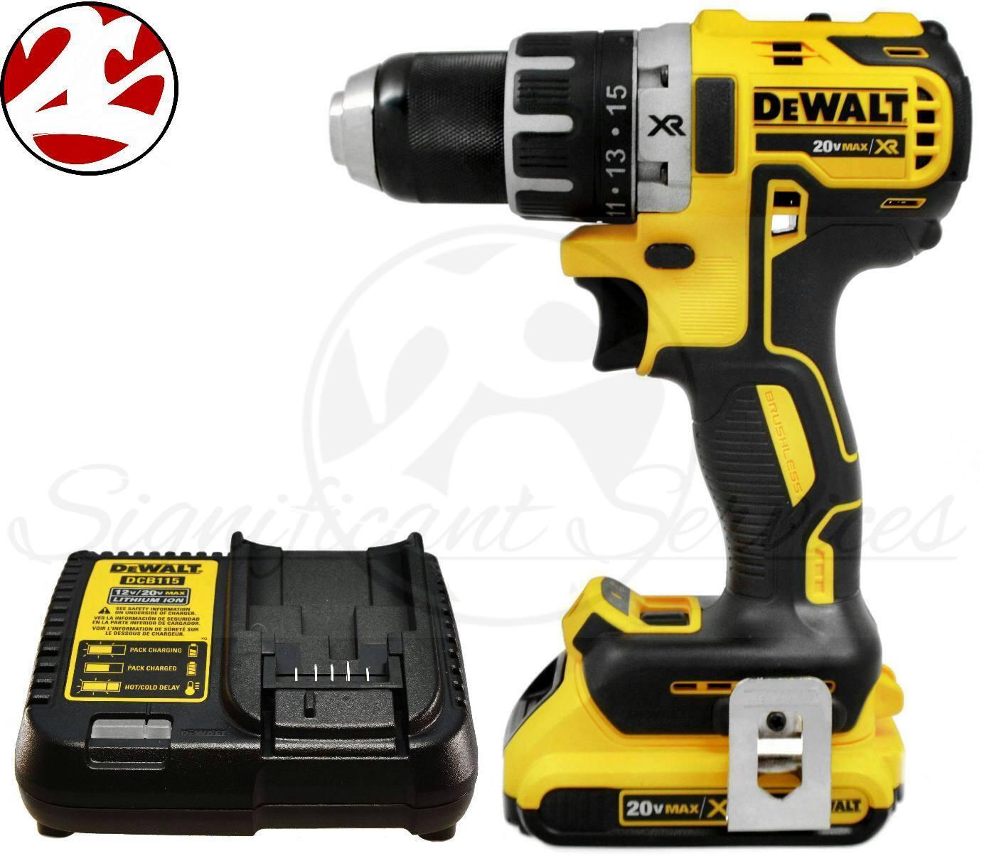"DEWALT DCD791D2 20V MAX XR Li-Ion 0.5"" 2.0Ah Brushless Compa"