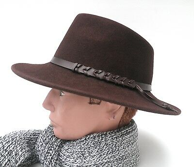 t Damen Herren Dunkelbraun Schwarz Strohhüte Mützen (Schwarze Cowboy-hüte)