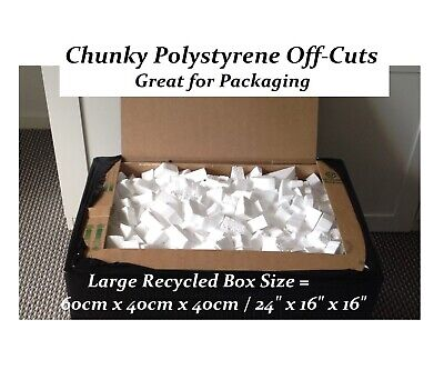 3.5 cubic feet Box 60x40x40cm Polystyrene Offcuts Not packing peanuts chippings