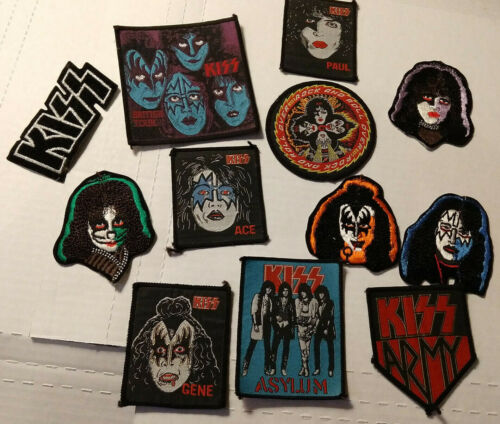 KISS Lot of 13 Magnets 12 Patches Trading Cards Magazines Photo Gene Simmons