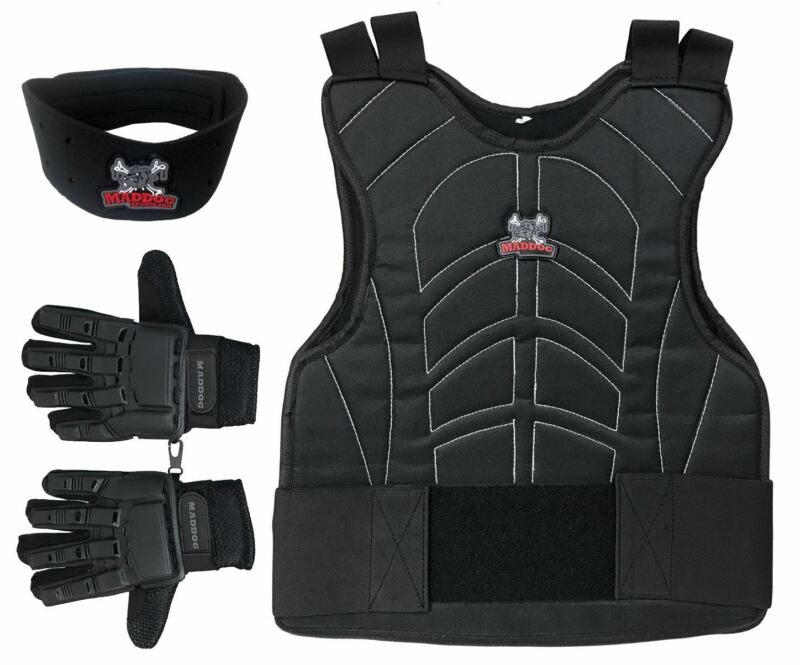 Maddog Chest Protector Tactical Glove Neck Protector Paintball Combo LXL