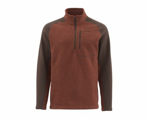 Simms Rivershed Sweater Quarter Zip Rusty Red ~ New ~ Closeout Select Sizes Only