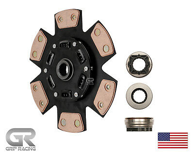 GRIP RACING 6-PUCK DISC+HD RELEASE BEARING For 03-05 DODGE NEON SRT-4 2.4L TURBO