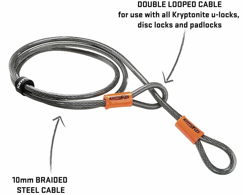 Câble Antivol vélo NEUF Kryptonite KryptoFlex 1007-10 mm x 213 cm