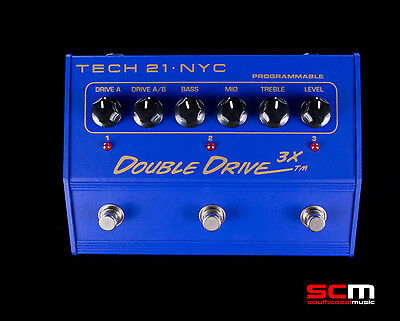 TECH 21 Double Drive 3X Electric Guitar Overdrive Distortion Pedal Last One NEW!