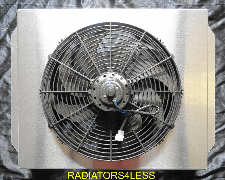 "ALUMINUM RADIATOR FAN SHROUD 16/"" FANS 1988-2000 CHEVY TRUCK PICKUP C1500 C2500"