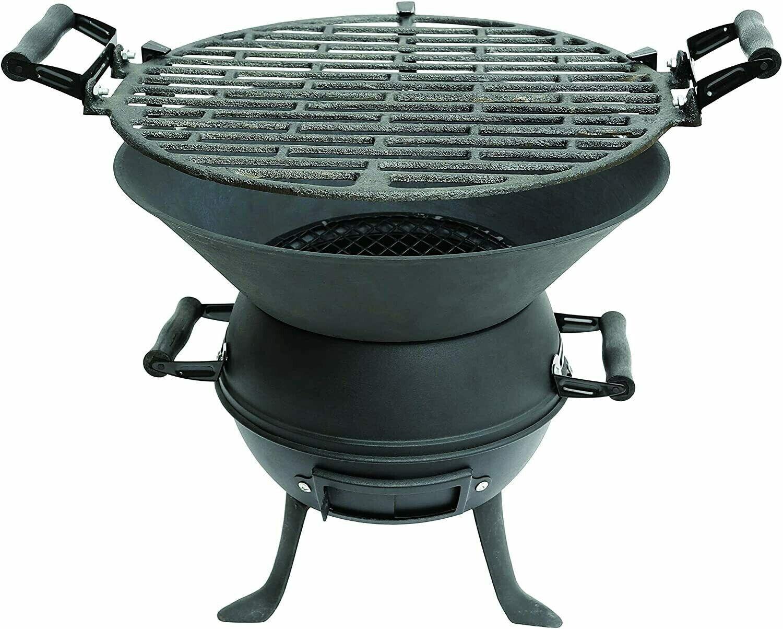 New Garden Heater Patio Chiminea BBQ Cast Iron Outdoor Picnic Camping Burner UK