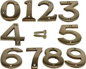 Beau Brass Door Numbers