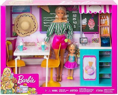 Barbie Gelato Cafe Playset with 2 Dolls GBK87