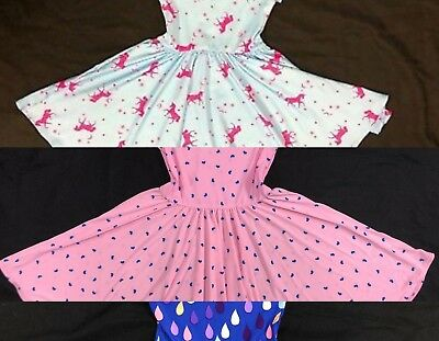 NEW Dot Smile 3 DRESSES classic Twirly Bundle of  Summer Girls Knit Cup Sleeve