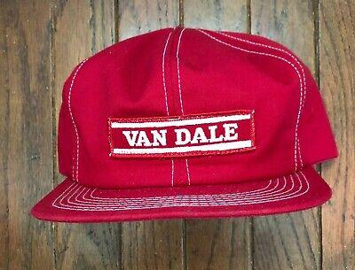 Vintage Van Dale Trucker Hat Snapback Hat Baseball Cap USA Made