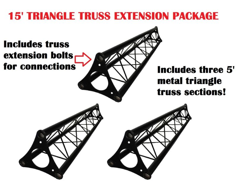 3x 5ft Lighting Triangle Bolted Truss 15