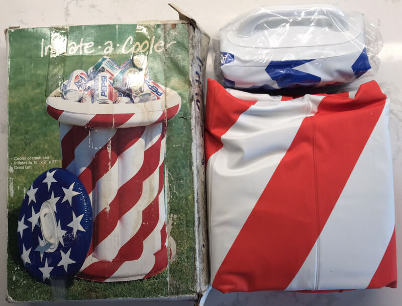 VTG American Patriotic Double Walled Inflatable Cooler Parties BBQ's Picnics 4th