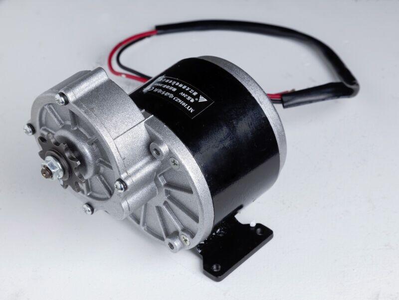 250W 24V DC electric Reversible motor f bicycle bike GoKart ZY1016z3 gear reduct