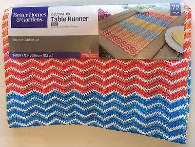 "Better Homes & Gardens Olefin Table Runner 14"" X 72"" Multi Indoor/Outdoor - (Best Multi Tables)"