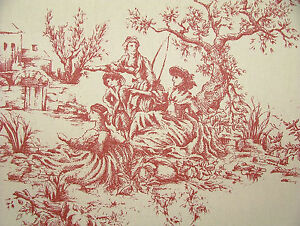 French Toile de Jouy 100% Cotton Designer Upholstery Curtain Shabby Chic Fabric