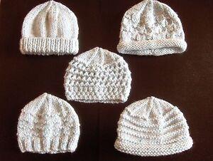 Premature baby knitting patterns ebay premature small baby knitting pattern for 5 hats dt1010fo