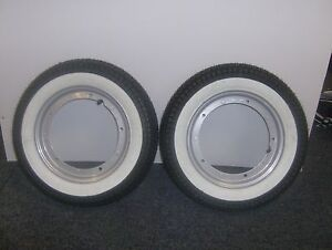 LAMBRETTA TV 200 and GT 200 2 WHEEL PACKAGE WHITEWALL TYRES MOUNTED ON RIMS