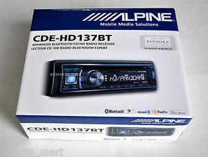 ALPINE-CDE-HD137BT-CD-MP3-PANDORA-VIA-IPHONE-ANDROID-BLACKBERRY-BLUETOOTH-HD