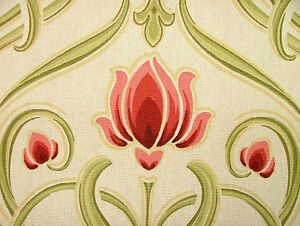 Art Nouveau Tiffany 100% Cotton Prestigious Designer Curtain Upholstery