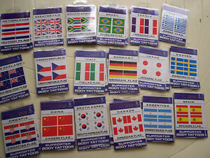 SYDNEY 2000 OLYMPIC SUPPORTER BODY TATTOOS -BULK PACK  18 COUNTRIES