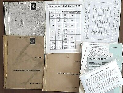 Manuals For Vintage Leitz Mm5 Large Metallograph Microscope 1 English 1 German