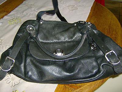 Audrey Brooke, schwarze Echtleder Tasche ()