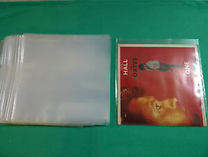 100-x-7-034-POLYTHENE-VINYL-RECORD-SINGLES-OUTER-SLEEVES-Plastic-FREE-P-amp-P-Worldwide