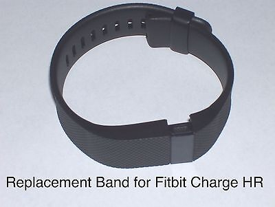 Replacement Band Strap Kit for Fitbit Charge HR Activity Tracker LARGE Black