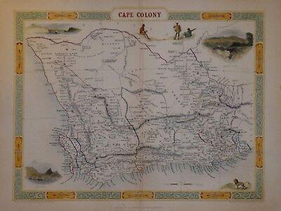 SOUTH AFRICA - CAPE COLONY BY JOHN TALLIS CIRCA 1850.