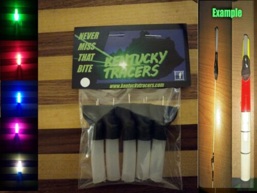 Kentucky Tracers Led Fishing Bobber/Pole Tip Lights Glow Stick(5)  PICK COLORS