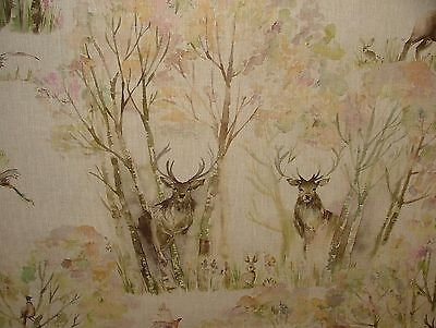 5m Voyage Dekoration Enchanted Forest Leinen Designer Vorhang Polsterstoff ()