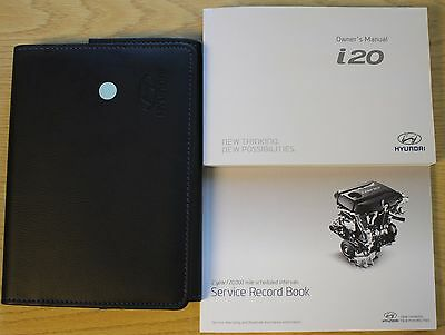 HYUNDAI I20 OWNERS MANUAL HANDBOOK WALLET AUDIO SERVICE BOOK 2014-2016 PACK !!!!