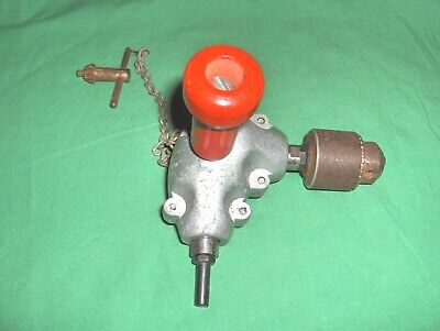 Vintage 90 Degree Angle Adaptor Metal Gear Right Angle Drill Attachment - 14