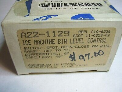New Ranco Ice Machine Bin Level Control A22-1129 35f To 51f