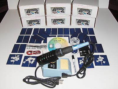 Learn to build your own solar cells panels diy kit  AND  Soldering Iron Place