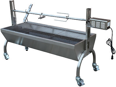 (Rotisserie Grill Roaster Stainless Steel 13W 88LBS capacity BBQ charcoal pig)
