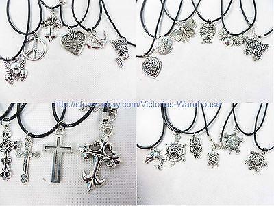US SELLER-10 pieces hippie pendant necklaces wholesale fashion jewelry bulk lot