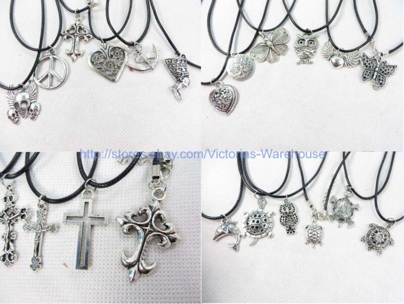 10 pieces hippie pendant necklaces wholesale fashion jewelry bulk lot