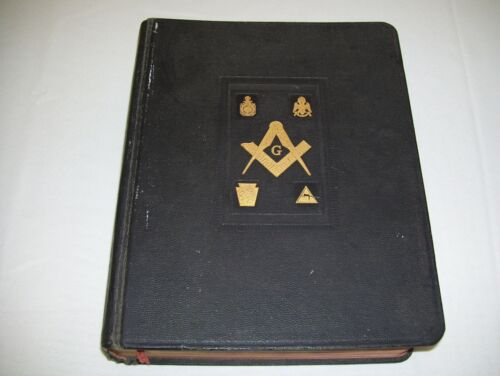 1961 Masonic HOLY BIBLE King James Old/New Testaments Reference Dictionary Index