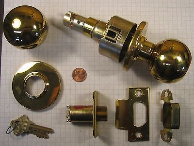 Schlage A80pd-orbit-ckeyway-kd Storeroom Lock Polished Brass 2-38 Backset